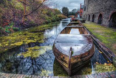 Vintage Canal Boat Art Print by Adrian Evans