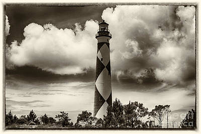 Lighthouse Photograph - Vintage Cape Lookout Lighthouse by Tony Cooper