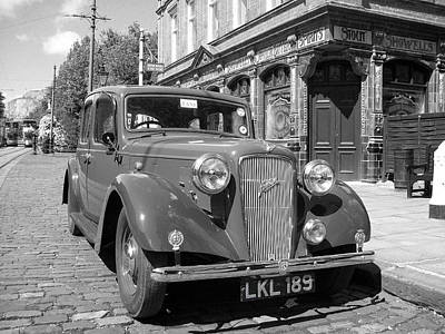Photograph - Vintage Car And English Pub by Tom Conway