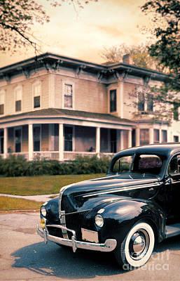 Photograph - Vintage Car And House by Jill Battaglia