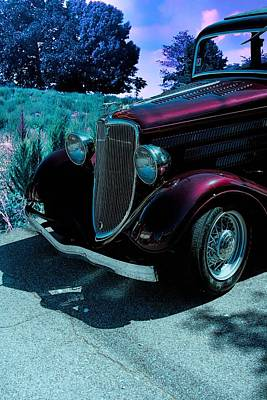 Automotive Art Series Wall Art - Photograph - Vintage Ford Car Art II by Lesa Fine