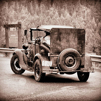 Photograph - Vintage Car At Kootenai Falls Montana by Patricia Januszkiewicz