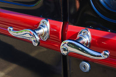 Photograph - Vintage Car Chrome by Susan Leonard