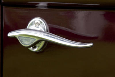 Photograph - Vintage Car Door Handle 5939 by Brent L Ander