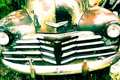 Photograph - Vintage Car Grill by Audreen Gieger