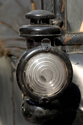 Photograph - Vintage Car Headlight 6807 by Brent L Ander