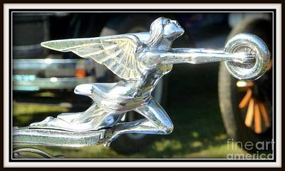 Photograph - Goddess Of Speed Packard Hood Ornament  by Susan Garren