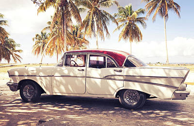 Photograph - Vintage Car In Cuba by Brzozowska