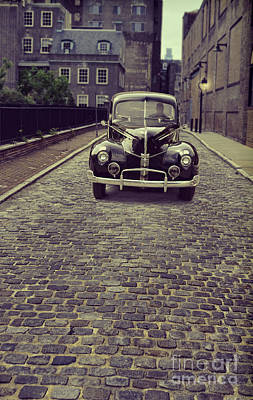 Photograph - Vintage Car On Cobbled Street by Jill Battaglia