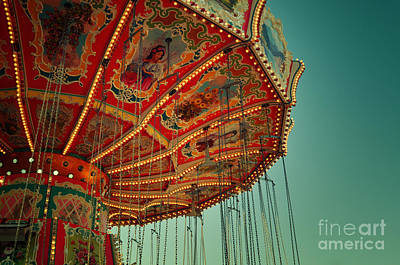 Vintage Carousel At The Octoberfest In Munich Art Print by Sabine Jacobs