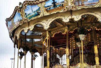 Vintage Carousel In Paris Art Print