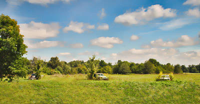 Photograph - Vintage Cars - Field Of Dreams 2tda by Greg Jackson