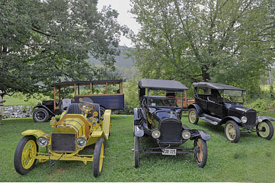 Photograph - Vintage Cars In A Rural Setting by Willie Harper