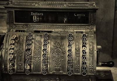 Vintage Cash Register Print by Dan Sproul