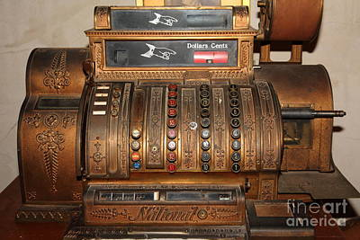 Vintage Cash Register In The Cellar Room At The Swiss Hotel In Sonoma California 5d24456 Art Print by Wingsdomain Art and Photography
