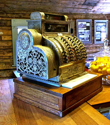 Photograph - Vintage Cash Register by Jeff Gater