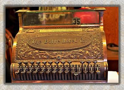 Butte Montana Photograph - Vintage Cash Register by Kae Cheatham