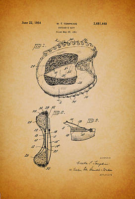Baseball Art Drawing - Vintage Catcher's Mitt Patent by Mountain Dreams