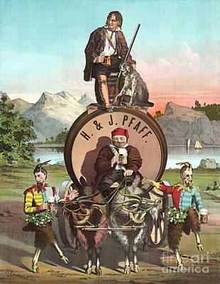 Vintage Celebrity Endorsement 1870 Art Print