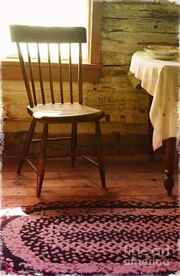 Vintage Chair And Table Art Print by Jill Battaglia