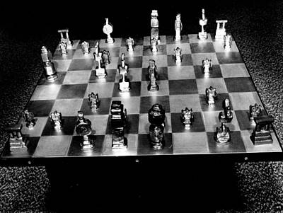 Board Game Photograph - Vintage Chess Board by Retro Images Archive