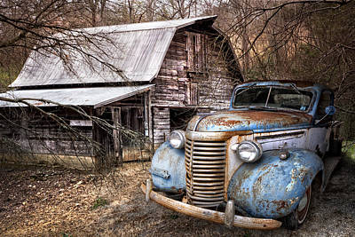 Farm In Woods Photograph - Vintage Chevrolet by Debra and Dave Vanderlaan