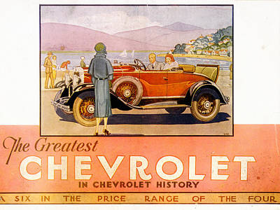 Photograph - Vintage Chevrolet Illustration by Andrew Fare
