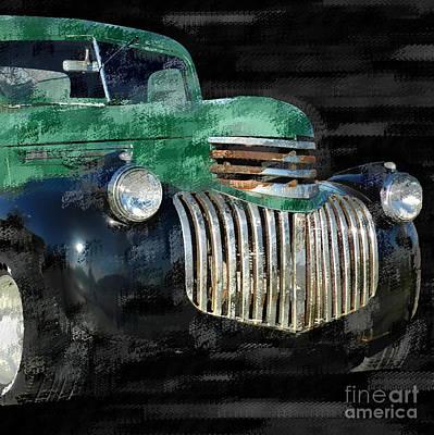 Vintage Chevrolet Pickup 1 Art Print by Betty LaRue