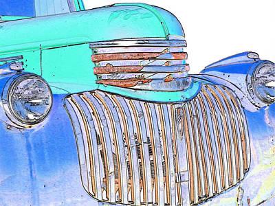 Vintage Chevrolet Pickup 3 Art Print by Betty LaRue