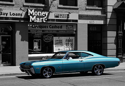 Photograph - Vintage Chevy Impala by Andrew Fare