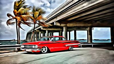 Painting - Vintage Chevy Impala by Florian Rodarte