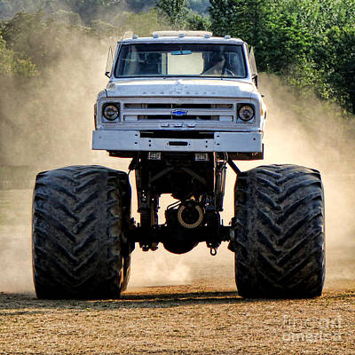 Photograph - Vintage Chevy Monster  by Olivier Le Queinec
