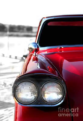 Vintage Chevy Red Art Print by Jennifer Mecca
