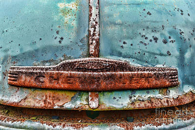 Blue Chevy Photograph - Vintage Chevy Rust  by Paul Ward
