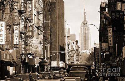 Photograph - Vintage Chinatown And Empire State by RicardMN Photography