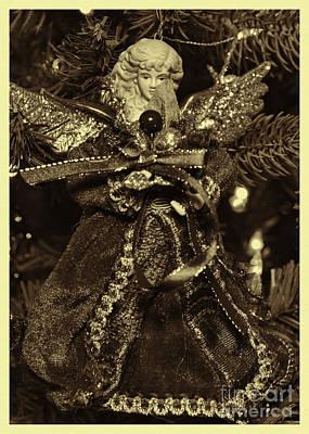 Photograph - Vintage Christmas Angel by Olga Hamilton