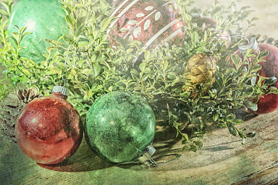 Photograph - Vintage Christmas Background by Marianne Campolongo
