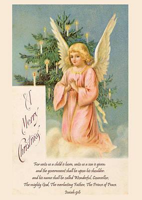 Photograph - Vintage Christmas Card I by David and Carol Kelly