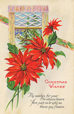 Photograph - Vintage Christmas Card II by David and Carol Kelly