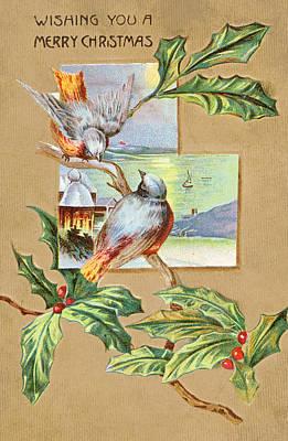 Photograph - Vintage Christmas Card IIi by David and Carol Kelly