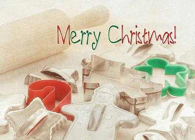 Photograph - Vintage Christmas Cookie Cutters  by Marianne Campolongo