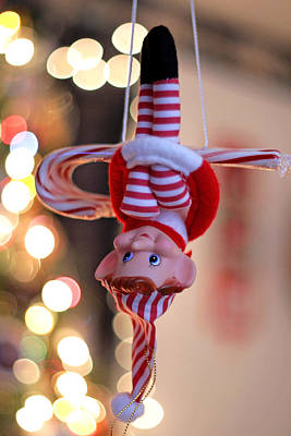 Photograph - Vintage Christmas Elf Trapeze by Barbara West