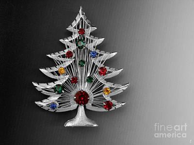 Citrine Photograph - Vintage Christmas Tree by Jai Johnson