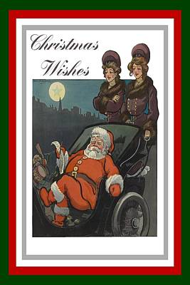 Wish List Painting - Vintage Christmas Wishes Greeting Card  by Tracey Harrington-Simpson