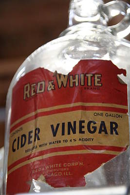 Rural Scenes Photograph - Vintage Cider Vinegar by Heather Allen