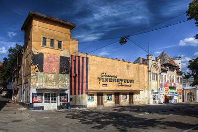 Photograph - Vintage Cinema Building In Iasi_romania by Vlad Baciu