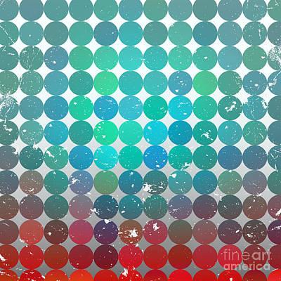 Bright Wall Art - Digital Art - Vintage Circles Pattern.geometric by Veronika M