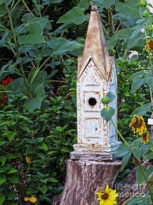 Animal Shelter Digital Art - Vintage Classic - Birdhouse by Ella Kaye Dickey
