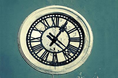 Retro Photograph - Vintage Clock by Modern Art Prints