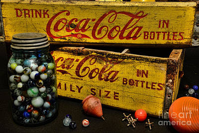 Vintage Coca Cola And Toys Art Print by Paul Ward